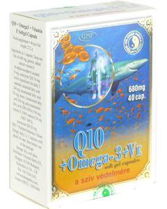 Q10 koenzim+Omega-3+E-vitamin kapszula DR.CHEN