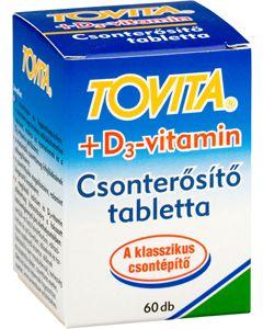 Tovita+D3 vitamin csonterősítő tabletta