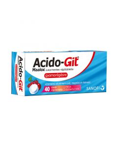 Acido-GIT Maalox cukormentes rágótabletta (Pingvin Product)