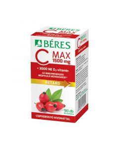 Béres C Max 1500mg Csipkebogyó D3 3000NE retard filmtabletta (Pingvin Product)