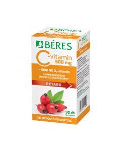 Béres C-vitamin 500mg Csipkebogyó D3 1000NE retard tabletta (Pingvin Product)