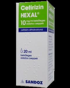 Cetirizin HEXAL 10 mg/ml belsőleges oldatos cseppek (Pingvin Product)