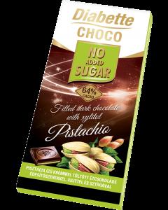Diabette pisztácia ízű krémmel töltött étcsokoládé