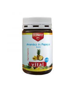 Dr.Herz Ananász Papaya enzim kapszula