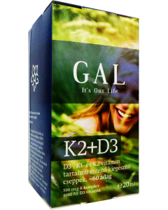 GAL K2+D3 vitamin cseppek - 20ml