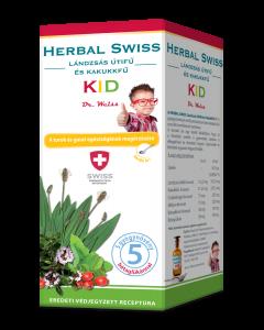 Herbal Swiss Kid Lándzsás útifű-kakukkfű étrend-kiegészítő szirup
