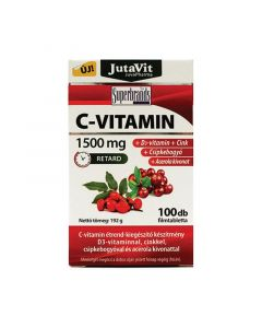 JutaVit C-vitamin 1500 mg acerola-kivonattal, csipkebogyóval, D3-vitaminnal és cinkkel