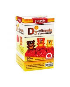 JutaVit D3-vitamin gumivitamin Málna (Pingvin Product)