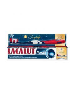 Lacalut fogkrém Flora + Lacalut fogkefe
