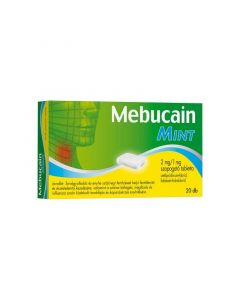 Mebucain Mint 2mg/1mg szopogató tabletta (Pingvin Product)