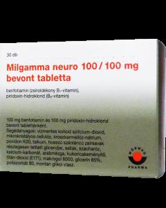 Milgamma neuro 100/100 mg bevont tabletta