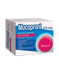 Mucopront 375 mg kemény kapszula