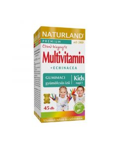 Naturland Multivitamin + Echinacea gyümölcsös ízű gyermek gumitabletta