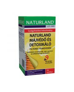 Naturland májvédő, detoxikáló filteres teakeverék