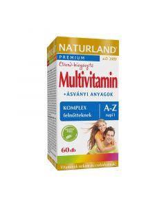 Naturland Multivitamin + ásványi anyagok komplex felnőtteknek A-Z tabletta