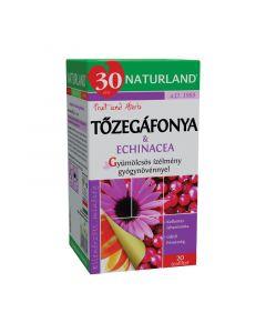 Naturland gyümölcstea Tőzegáfonyával és echinacia. (Pingvin Product)