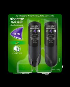 Nicorette Quickspray 1 mg/adag szájnyálkahártyán alkalmazott oldatos spray