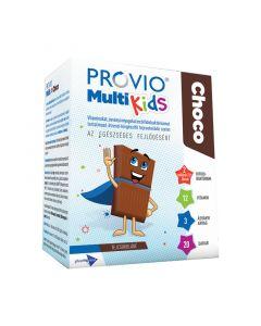 Provio Multi Kids Choco étrend-kiegészítő tejcsokoládé szelet