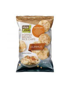 Rice Up barna rizs chips hummus