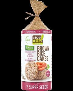 Rice Up puffasztott barna rizs szelet szupermagvakkal - 120g