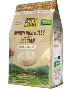 Rice Up fehér csokis barna rizs snack GM - 50g