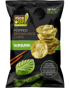 Rice Up rizs chips Wasabis - 60g
