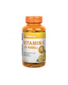 Vitaking C-vitamin 1000mg+D-vitamin 4000NE tabletta