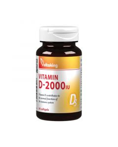 Vitaking D-vitamin 2000NE kapszula (Pingvin Product)