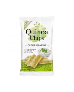 Vital Quinoa chips tejfölös