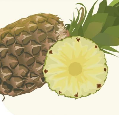 Mit tartalmaz 100 g ananász?