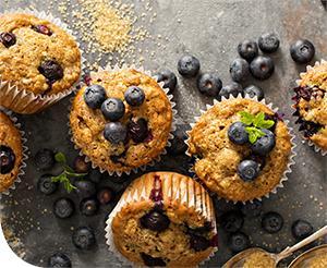 Diétás zabpehelylisztes áfonyás muffin